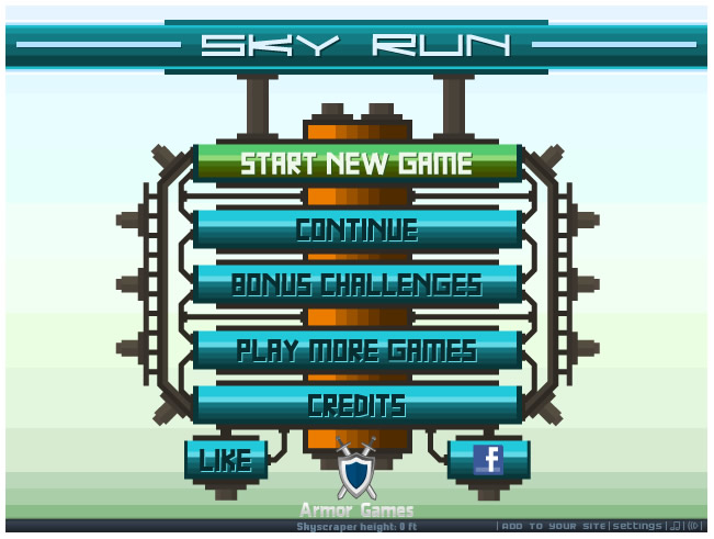 Armor Game : Sky Run
