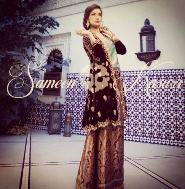SameenKasuriSemiFormalCollection2014 15 wwwfashionhuntworldblogspotcom 005 - Formal & Semi Formal Wear Dresses By Smeen Kasuri