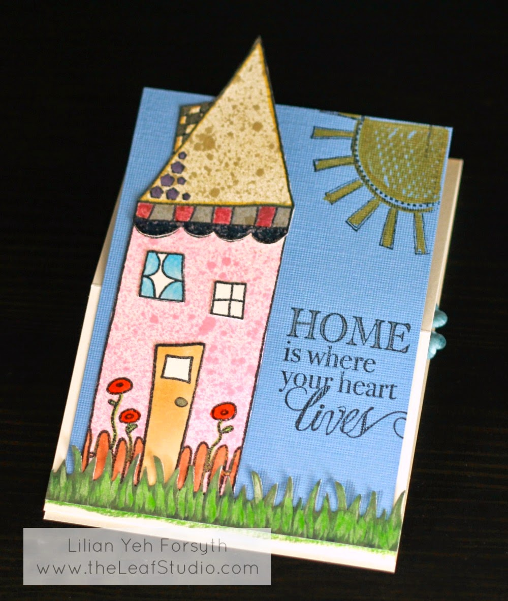 New Home Congratulations Card The Leaf Studio
