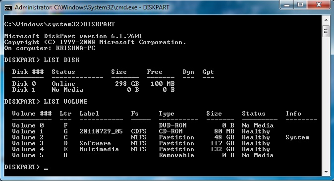 Change Drive Letter Using Dos Command