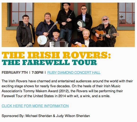 Seven Days of Opening Nights Presents THE IRISH ROVERS – Farewell to