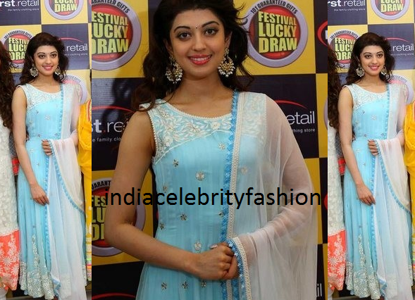 Pranitha in Pastel Anarakli