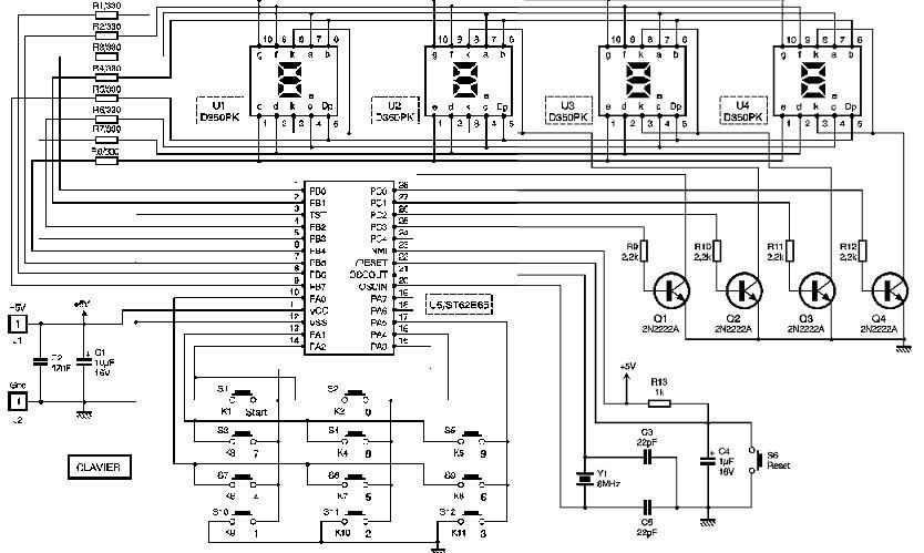 affichage pilote par microcontroleur sgs