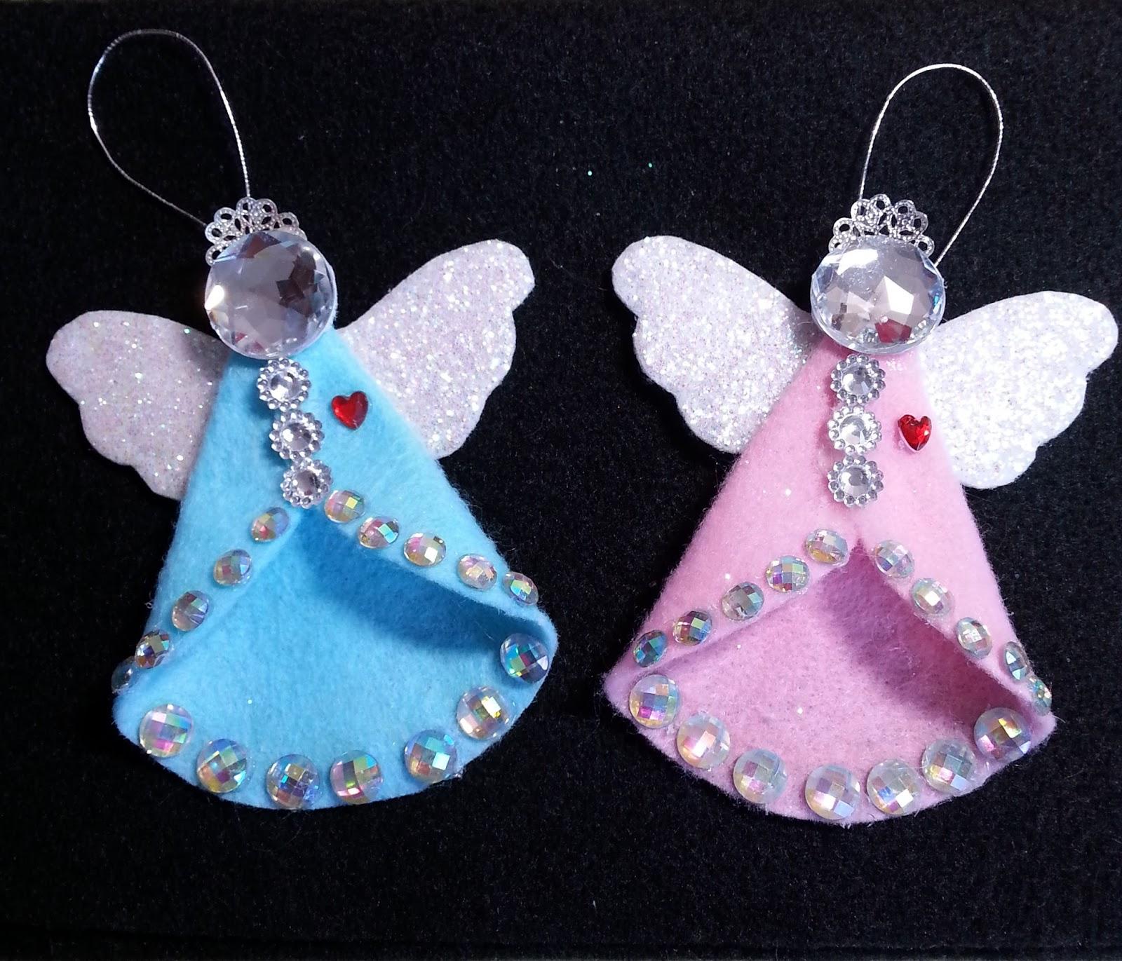 Felt Angel Patterns Felt Angel Ornament With