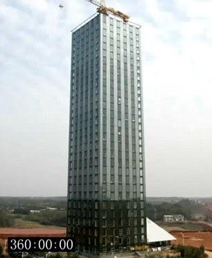 China bina hotel 30 tingkat dalam masa 15 hari
