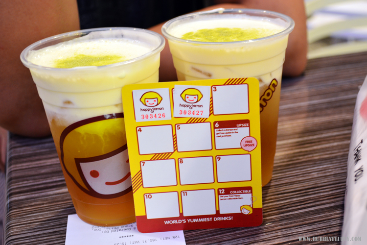 Happy Lemon's Stamp Collection Loyalty Card