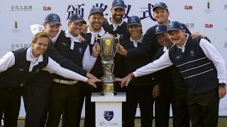 GOLF-Olazábal dio la Royal Trophy a Europa