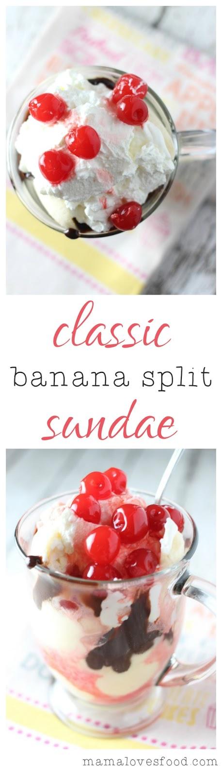Classic Banana Split Sundae