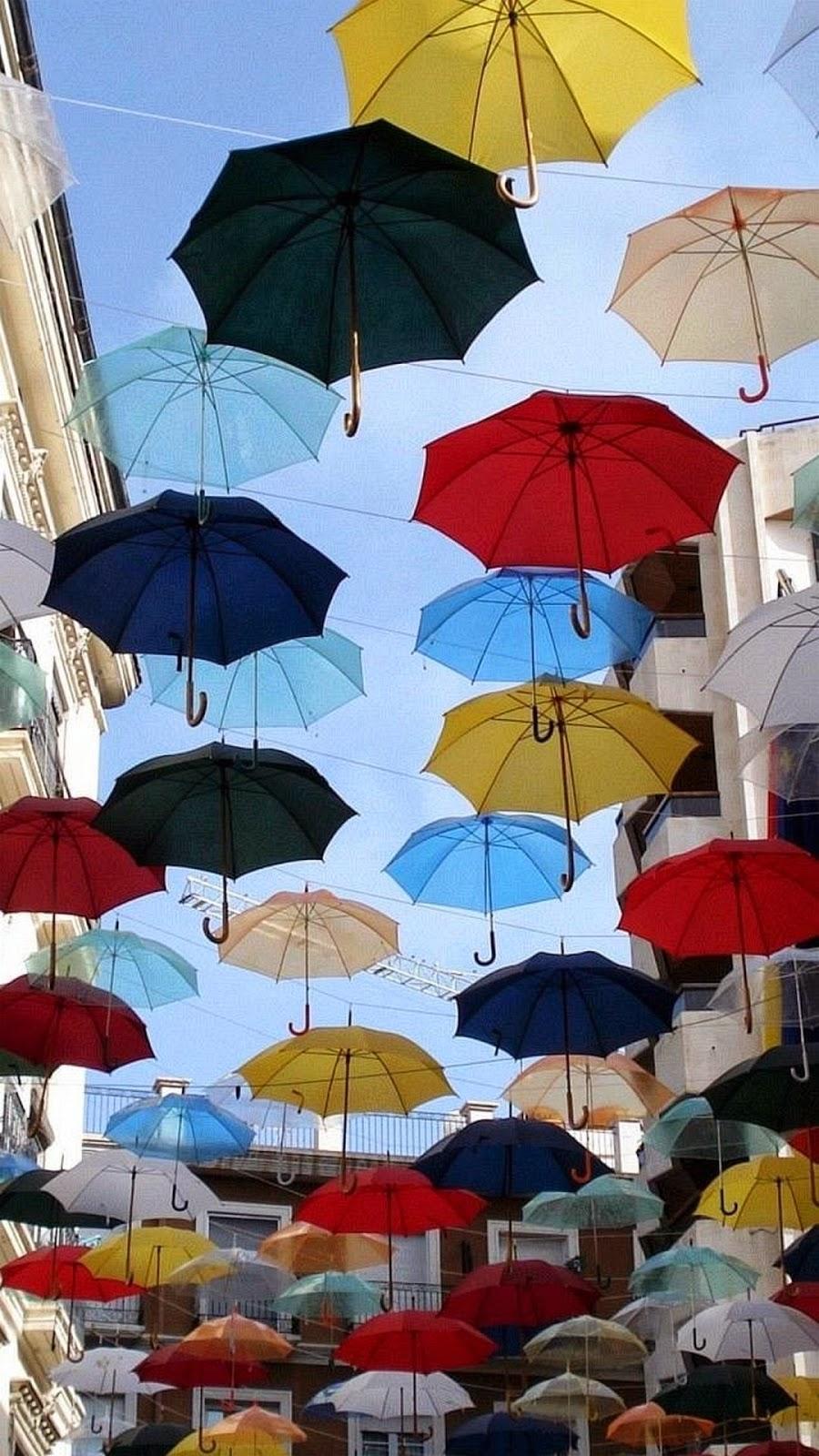 iPhone 6 Plus Umbrellas Background