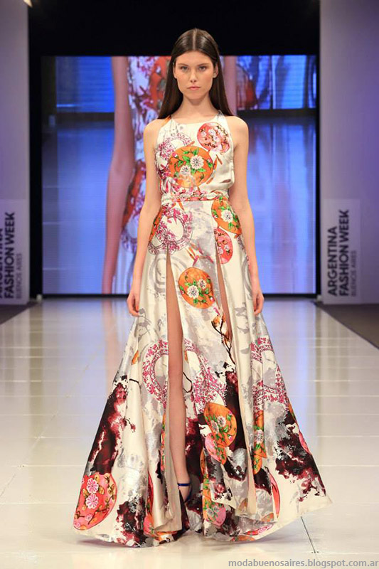 Benito Fernández vestidos largos 2015. Moda primavera verano 2015.