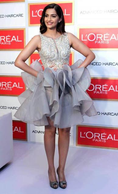 Sonam Kapoor Hot Pics At L'oreal Event