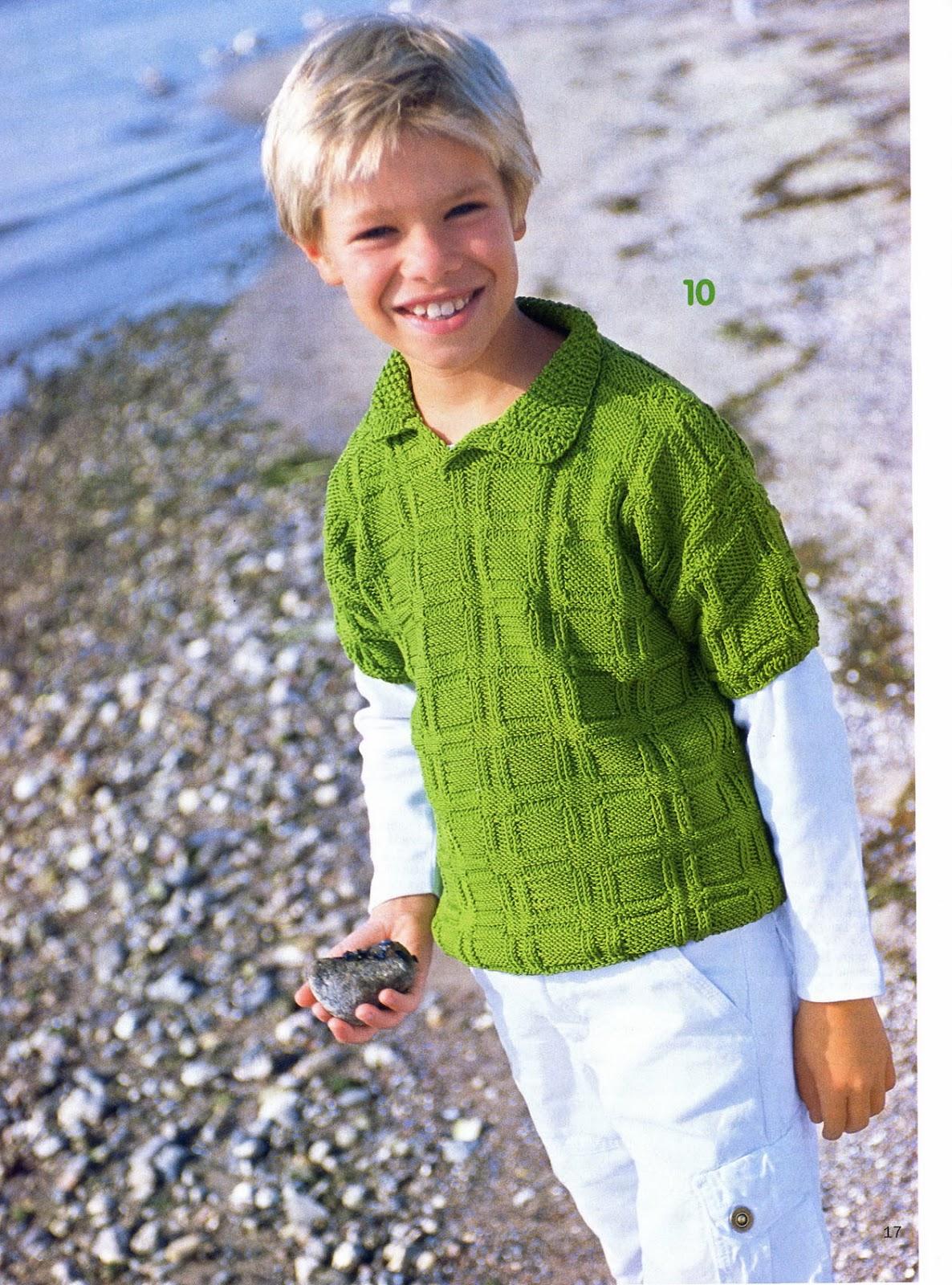 """На нашем женском портале  """"Дамочка """" Вы в любое время можете найти новость - модели вязания для мальчика 128..."""