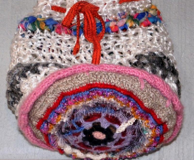 Sac bandoulière en ficelle agricole recyclée et laine