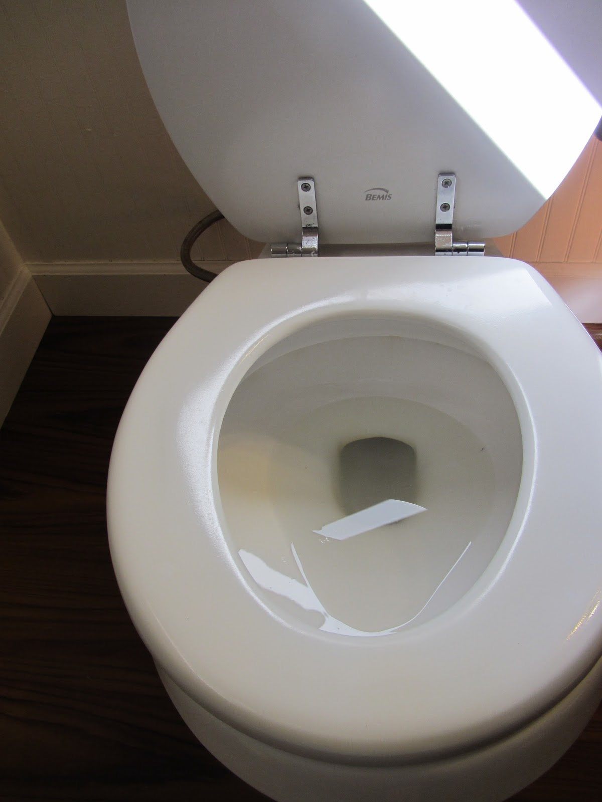 how to clean calcium stains on toilet