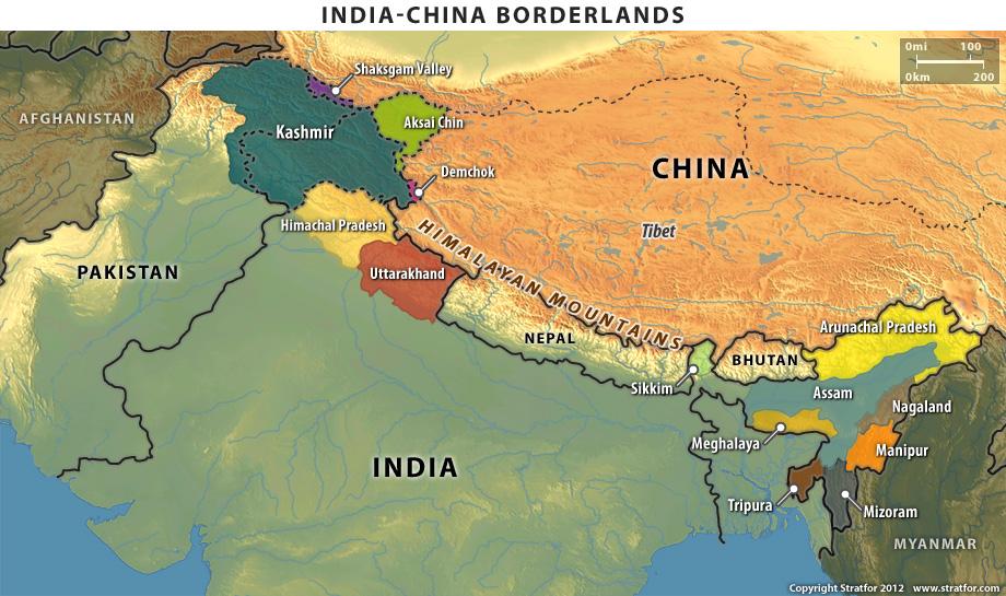 Ojos del mundo tensiones en la frontera india china las montaas del himalaya mantienen separadas a china e india y previene eficazmente a los dos pases de hacer cualquier avance militar significativo de uno gumiabroncs Image collections