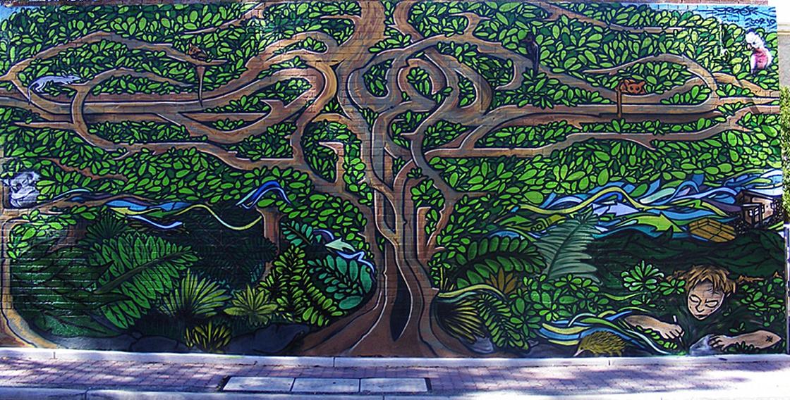 We mural art tree of life for Australian mural