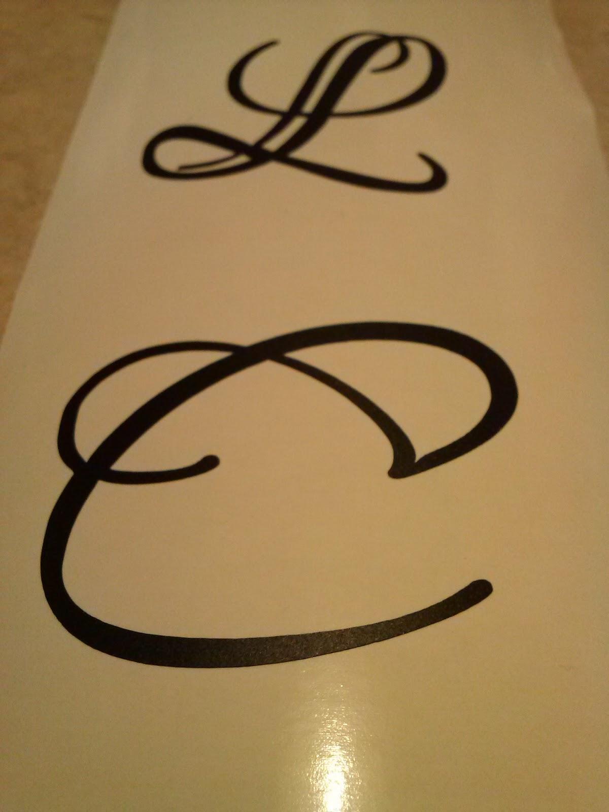 DIY wine glass kit monogram C