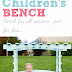 DIY Child's Bench with Arbor