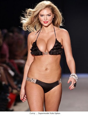 celebrates model Kate Upton's curvaceous body