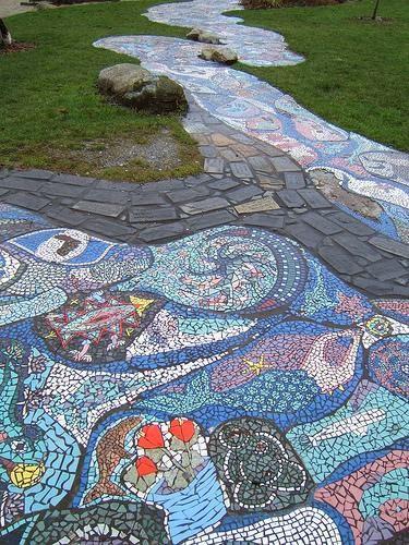 Мозаика на садовых дорожках