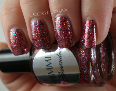 Shimmer, Alessandra, Red, Coral, Green, Teal, Aqua, Indie, Glitter
