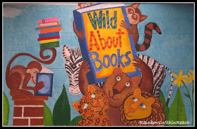 photo of: Library Mural: Wild About Books