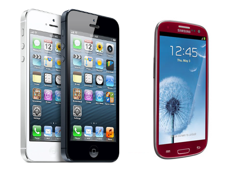 Apple iPhone 5 compared to Samsung Galaxy S III