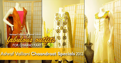 Ashraf Valliani Chaanraat Specials Collection 2013-14 For Women