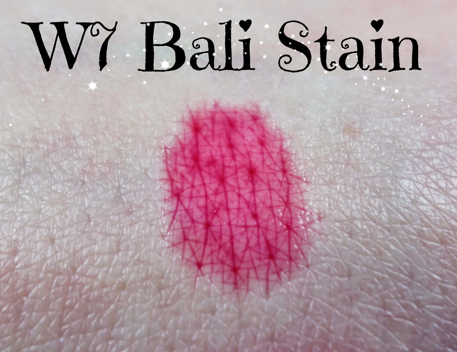 W7 A Hint of Bali Lip & Cheek Stain Swathes - The Best Lip & Cheek Stain?