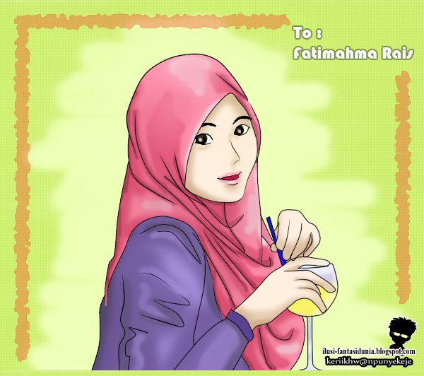 Free Download Kartun Islam Gambar Couple Muslimah Comel Hd Wallpaper