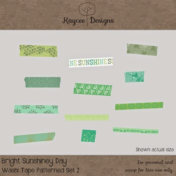Free scrapbook Washi Tape Patterned from Kaycee