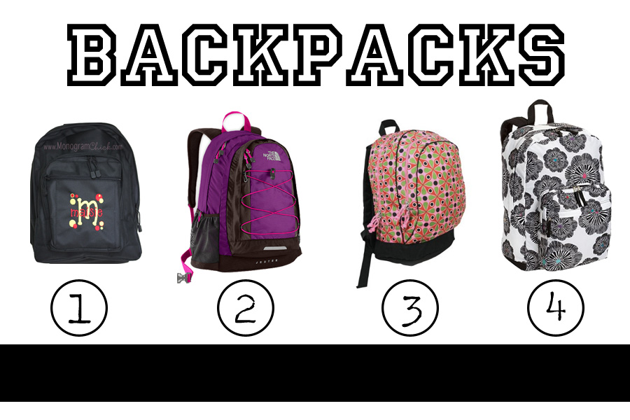 Back to School :: Backpacks and Totes - The College Prepster