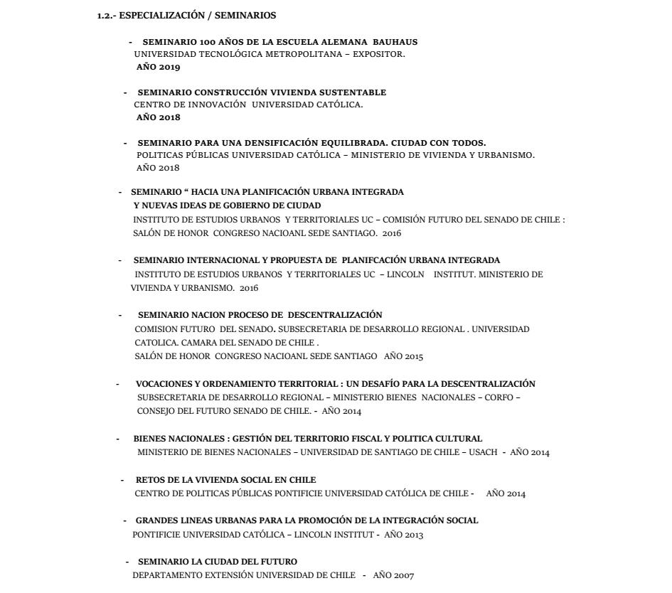 Curriculum Arquitecto Marco Muñoz Ortiz página 2 de 5