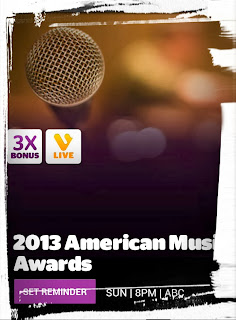 2013 American Music Awards, AMAs, ABC, Viggle, Viggle Live, Viggle Mom