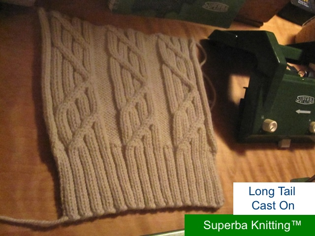 Knitting Stitches Long Tail Cast On : Superba Knitting : Review Of Cast On Methods For Home Knitting Machines. ?Pat...