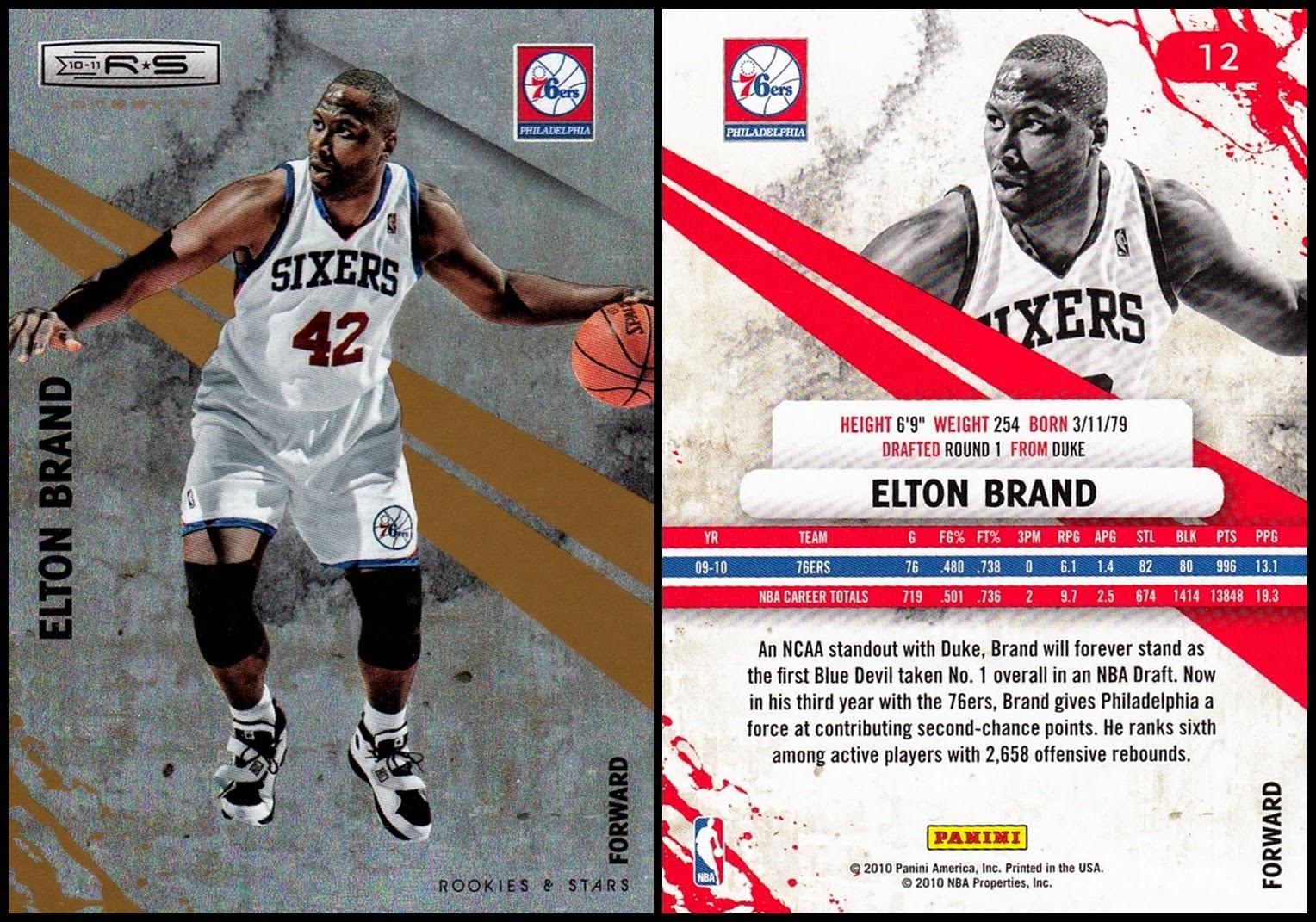 967b62957 Cardboard History   2015 Elton Brand Chart