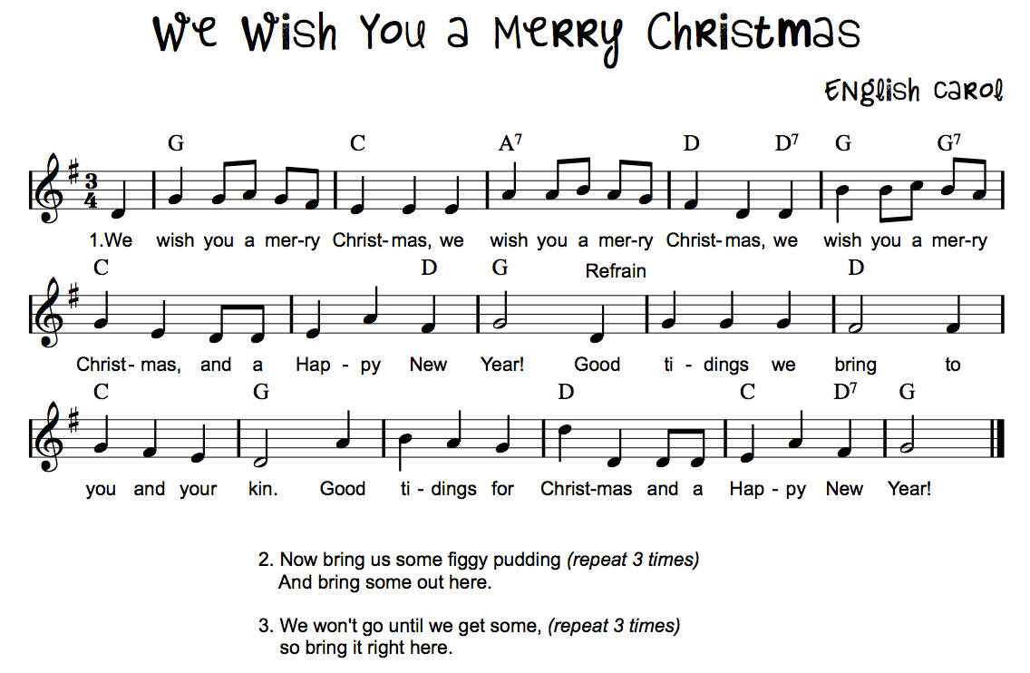 we whish you a merry: