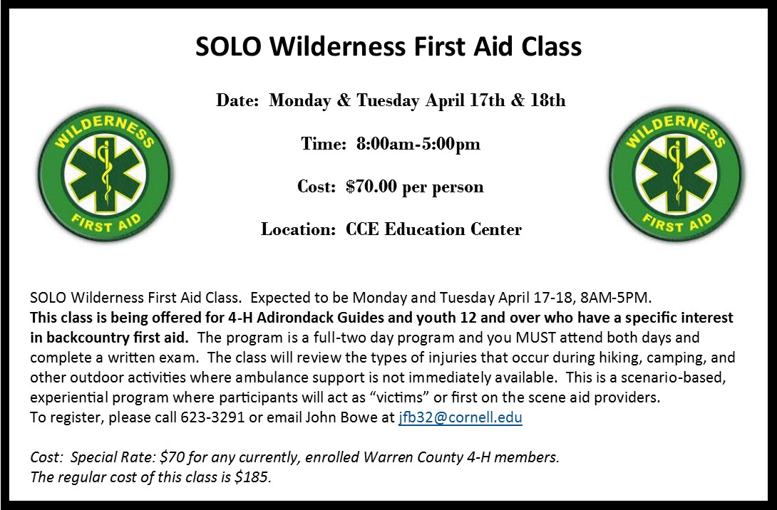 SOLO Wilderness First Aid Class
