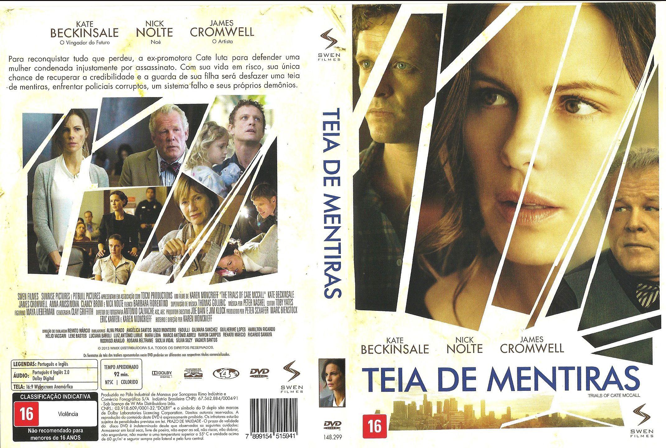 Capa DVD Teia De Mentiras