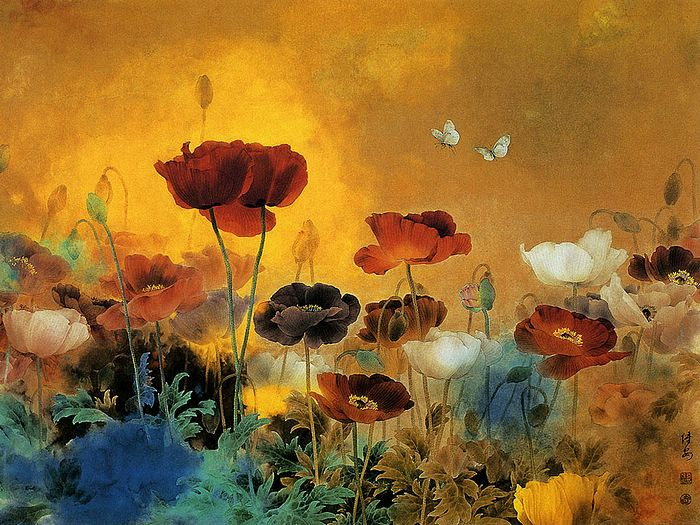 Amazing floral painting free images fun for Amazing paintings pics