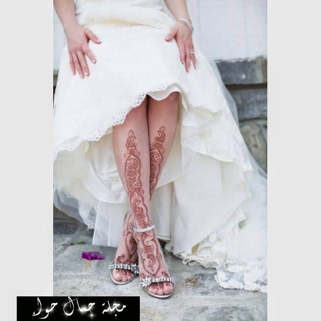 نقوش حناء للعروس 2014