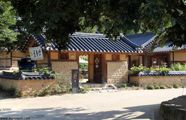 Entrada al único restaurante de Museom
