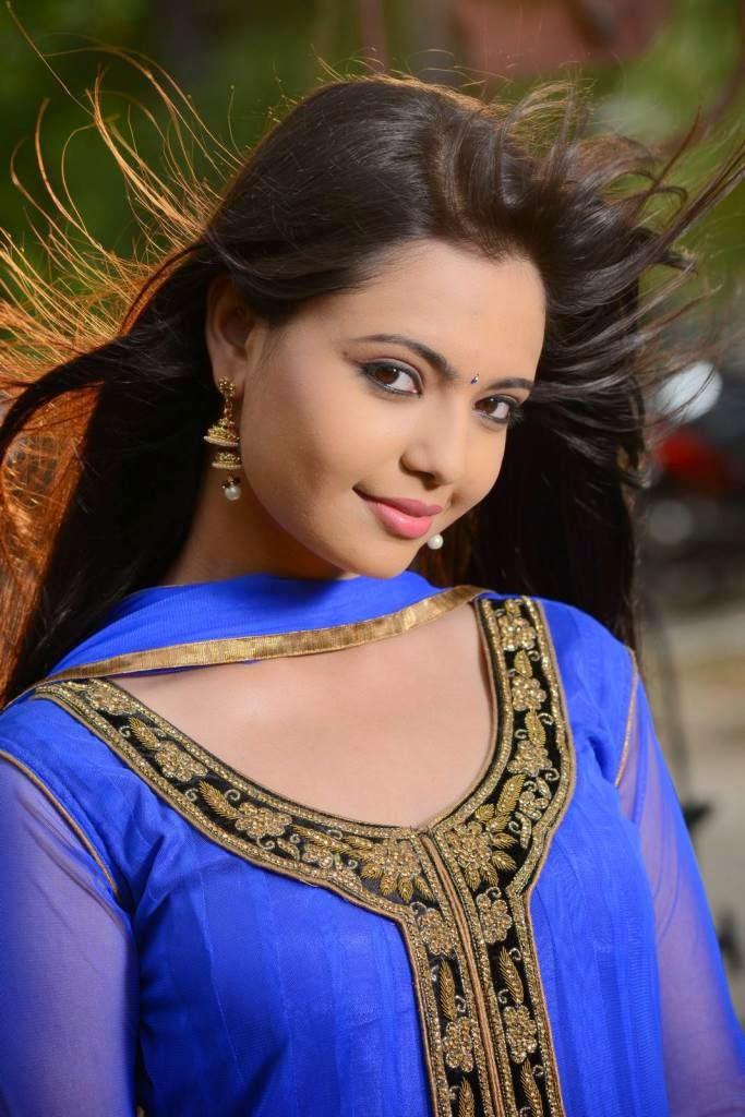Actress Marina Ibrahim Latest Cute Hot Exclusive Beautiful Blue Churidar Dress Spicy Photos Gallery