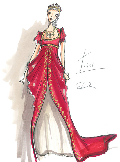 Carolina Herrera, Narciso Rodriguez, and More Designers Sketch Their ...: www.thefashionillustrator.com/2011/05/designers-sketch-their...