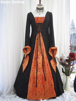 Designer blog bronwen robbins wedding bells are a ringin39 for Black and orange wedding dresses