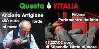 Monti delega le camere al taglio stipendi parlamentari: l'ennesima presa in giro. Qui vi spiego come e perchè