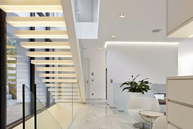 Casa toda branca com planta - arquitetura e decoração ...