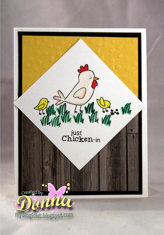 Chicken card by Donna Idlet for Newton's Nook Designs | Chicken Scratches Stamp set