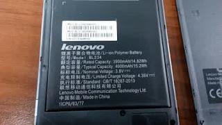Baterai Lenovo P1m 4000 mAh