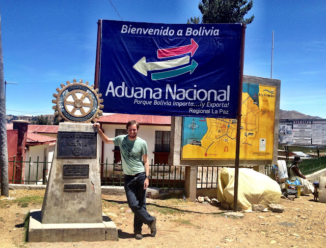Standing at the boder in Bolivia